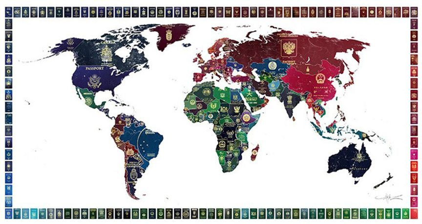 World Passport Map | Yanko Tihov