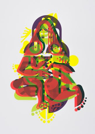 Ryan McGinness, Mother and Child, 2015 (Courtesy of The Lower East Side Print Shop)