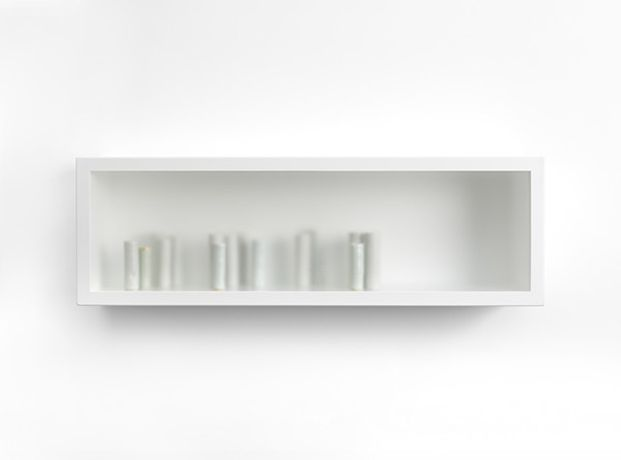 Edmund de Waal, if we attend, 2015 © Edmund de Waal courtesy New Art Centre, Roche Court, Photograph by Ian Skelton (front view)