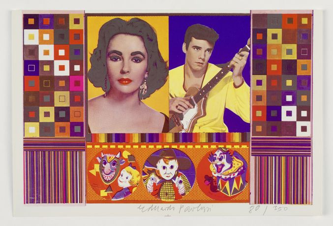 'Eduardo Paolozzi : An Empire of Silly Statistics..A Fake War for Public Relations copyright Trustees of the Paolozzi Foundation. Licensed by DACS'