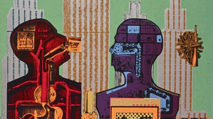 Eduardo Paolozzi, Wittgenstein in New York (from the series As is When), 1965 (detail) Courtesy Scottish National Gallery of Modern Art: GMA 4366 K © Trustees of the Paolozzi Foundation