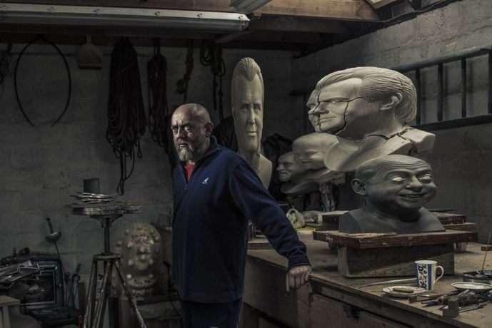 Photographer Peter Searle. on sculptor John Humphreys at his studio