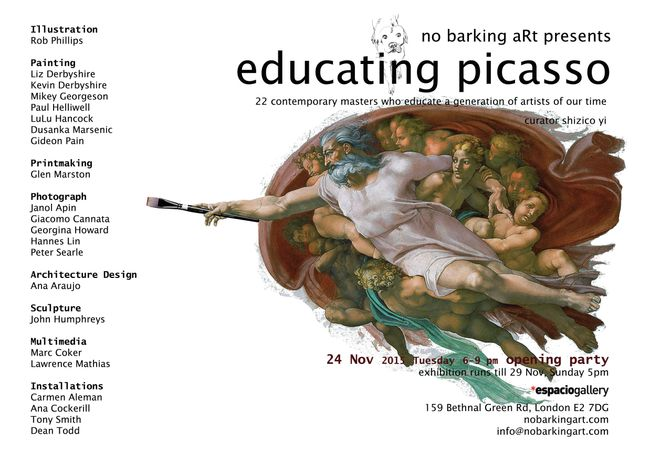 Educating Picasso, no barking aRt, 2015