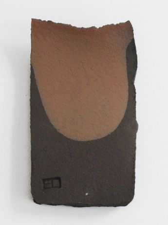 Edward Barber and Jay Osgerby, Untitled, 2018, black clay, terracotta slip,4.80h x 3w in