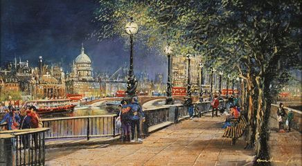 'Queens Walk, London' by Gordon Lees