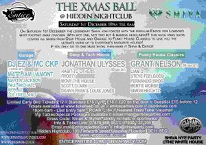 "ࢊ""ªà¢Ëœâ€ Shiva + Entice present the Xmas Ball  Hidden Sat 1st Dec"