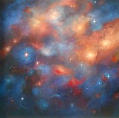 Cosmos - oil on canvas -Lee Campbell