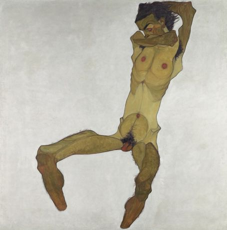 Egon Schiele, Seated Male Nude (Self-Portrait), 1910 © Leopold Museum, Vienna | Photo: Leopold Museum, Vienna