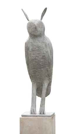 Long Eared Starry Owl, Bronze, Edition V 85 x 24cm