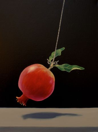 Swinging Pomegranete, oil on canvas18x14ins.