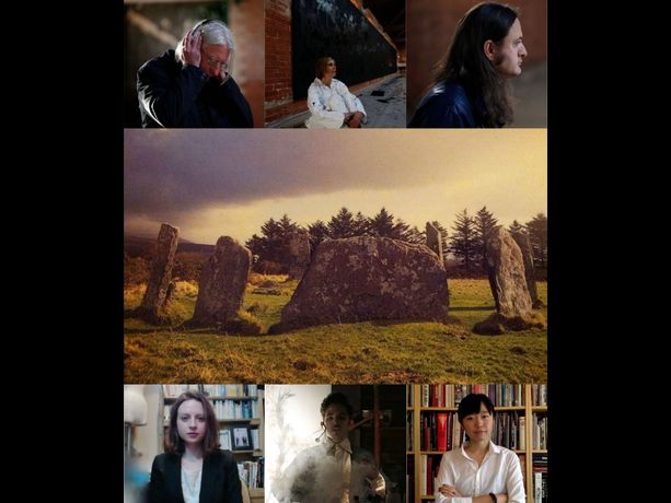Participating artists and curators - From top left: Bruce Gilbert, Naomi Siderfin, David Crawforth, Catherine Harrington, Nahum Mantra, Eiko Honda.