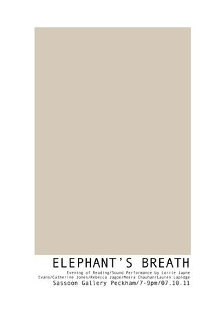 ELEPHANT'S BREATH: Image 0