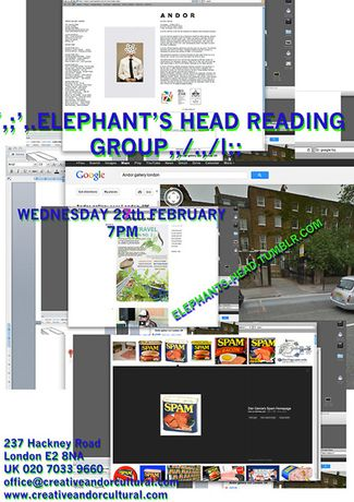 ELEPHANTS HEAD Reading Group, Session no.3: Image 0