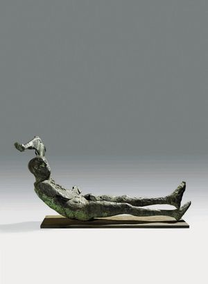 Dying King (1963), Bronze, Edition 1 of 3, H90.2 x W198.1 cm (35.5 x 78 inches). FCR127.