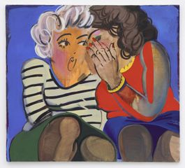 Ella Kruglyanskaya, Gossip Girls 2010 Oil paint on canvas 762 x 813 mm Courtesy the Artist, and Gavin Brown's enterprise New York/Rome.
