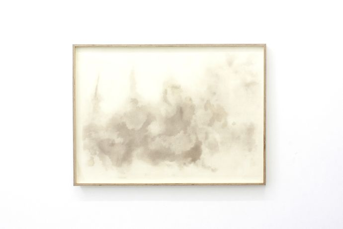 Ella Littwitz, Aerosol, 2018, dust on paper, 98 × 67,5 cm. Courtesy of the Harlan Levey Projects