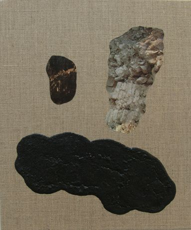 Sad Cloud 2014 collage, binder, resin and pigment on linen 25 x 30 cm