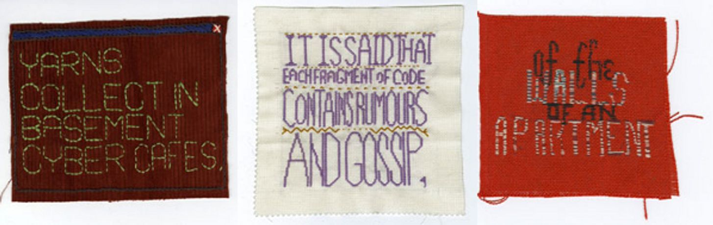Embroidered Digital Commons workshops with Ele Carpenter and Emilie Giles: Image 0