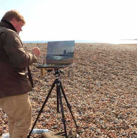Tom painting en plein air