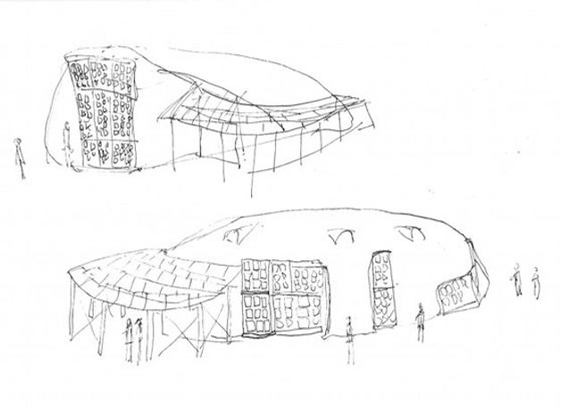 Working sketch of 'Encampment Supreme' by Paul Chaney
