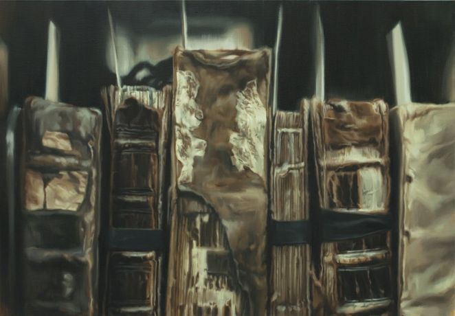 Thomas Fisher Rare Book Library, University of Toronto, #2 多伦多大学费雪珍稀书籍图书馆 2  2015  Oil on linen 亚麻布油彩