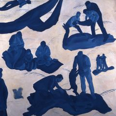 'Blue Pieta' (1993)  Oil on Canvas