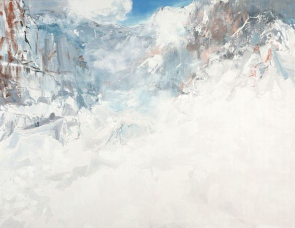 Eric Aho. Base, 2010  Oil on linen  62 x 70 inches