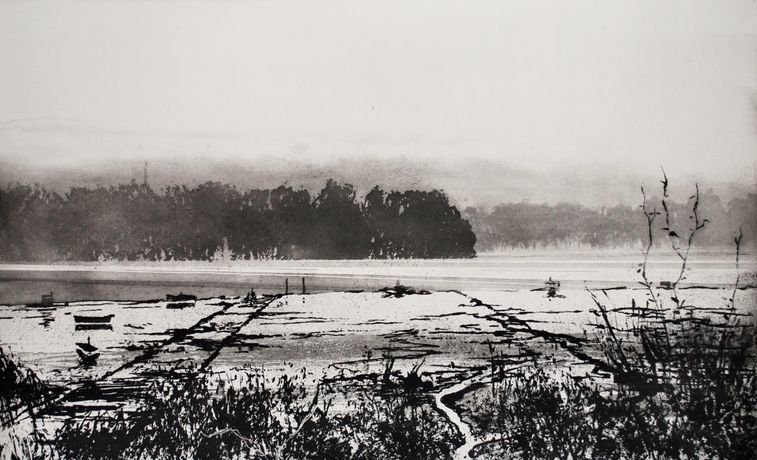 Norman Ackroyd RA, The Stour in Winter