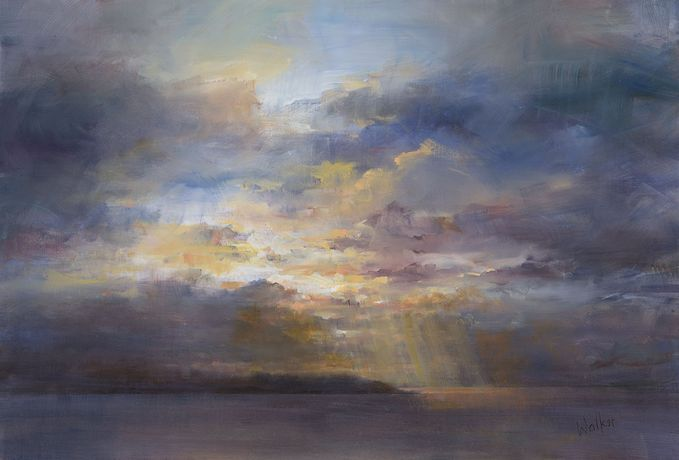 Walker, 'Headland, Evening Sky'