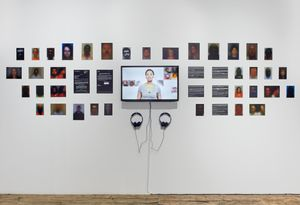 Paolo Cirio, 'Obscurity,' 2016, inkjet prints and video, dimensions variable. Installation view of 'Concrete Truth: Art and the Documentary'. Photo by Martin Parsekian.
