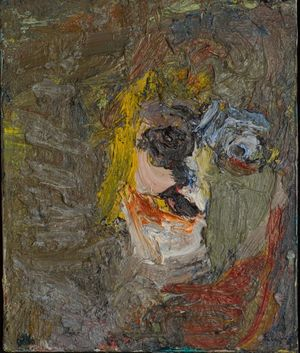 Eugène Leroy / Tête, Eugène Leroy 1967 oil on canvas, 46 x 38,5 cm, Courtesy: Daniel Blau Munich