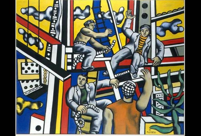 Fernand Léger, Builders (builders with aloe), 1951, oil on canvas, The Pushkin State Museum of Fine Arts, Moscow