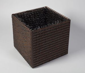 Eva Hesse Accession V, 1968 Galvanized steel and rubber, 10 x 10 x 10 inches LeWitt Collection, Chester, CT