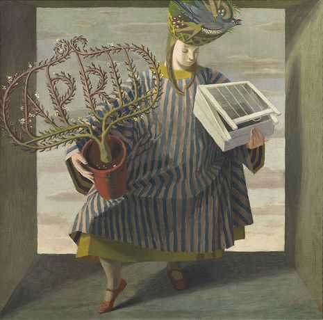 Evelyn Dunbar, April, 1937, Oil on canvas, Evelyn Dunbar, April, 1937, Oil on canvas, The Artist's Estate, courtesy of Liss Llewellyn Fine Art