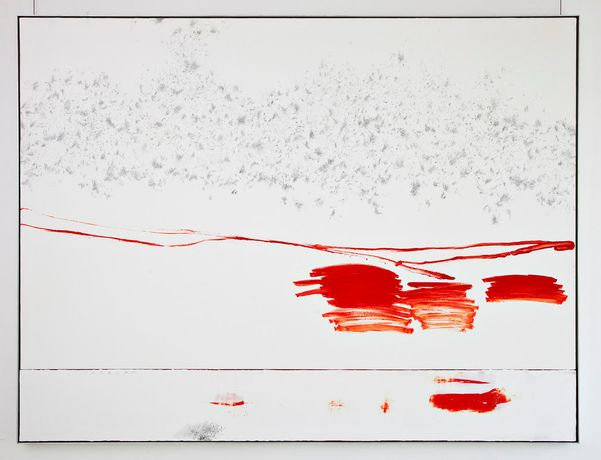 Michael Müller, A Piece of Music, played wrongly at noon, 2010  Pencil, oil and acrylic on canvas 180 x 240 cm  Courtesy the artist and Aanant & Zoo