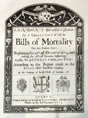 Bills of mortality, 1665