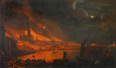 Fire of London, Anglo Dutch School c1666