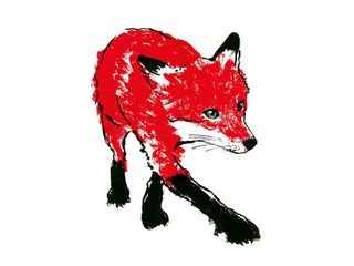 Walking Fox screenprint by Tiff Howick