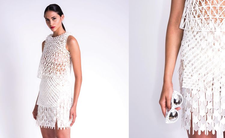 Kinematic dress by NERVOUS SYSTEM