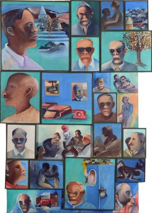Bhupen Khakhar Gallery of Rogues 1993 Private collection © Estate of Bhupen Khakhar