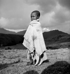Basuto Boy in Blanket by George Rodger