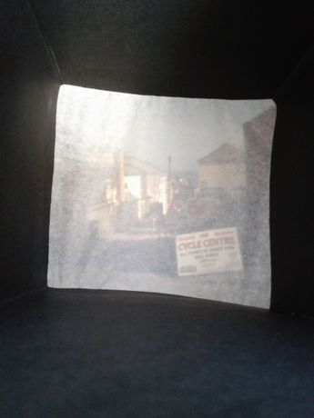 Image from inside the handheld Camera Obscura