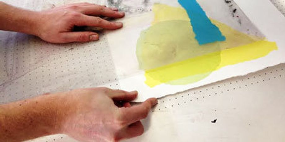 An introduction to screenprinting, learning how to prepare screens for print using paper stencils, experimenting with colour and colour overlays to create further colours.