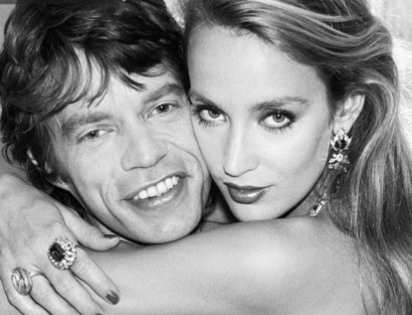Mick Jagger; Jerry Hall by Norman Parkinson, July 81 © Norman Parkinson / Iconic Images (detail)