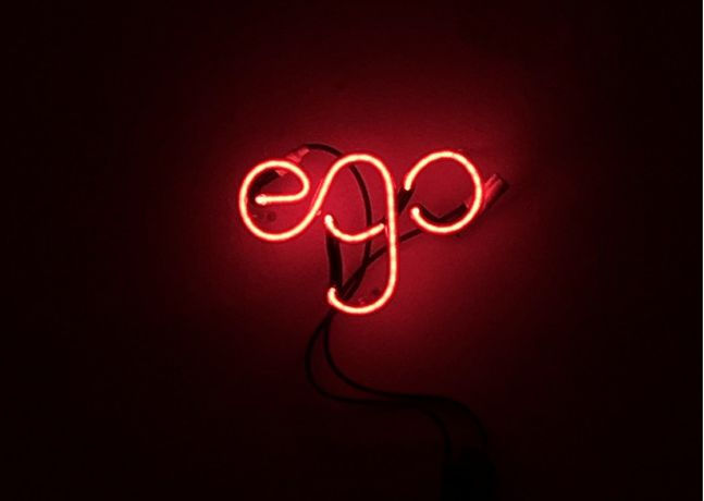 Image © Andy Walders, Ego, neon light installation from 'Sum - The Contemporary Sublime' curated by Ollie Adams for #FaB17