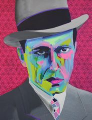 Tim Fowler, 'Humphrey Bogart', acrylic, spray paint and ink on canvas, 102 x 78 cm