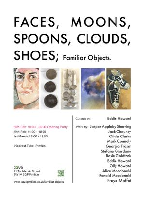 FACES, MOONS, SPOONS, CLOUDS, SHOES; Familiar Objects.