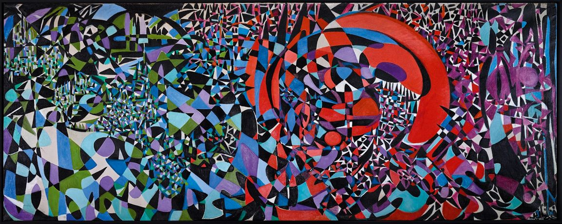Fahrelnissa Zeid, Break of the Atomic and Vegetal Life, 1962, oil on canvas, 210 x 540 cm, Z. Yildirim Family Collection, © Raad Zeid Al-Hussein