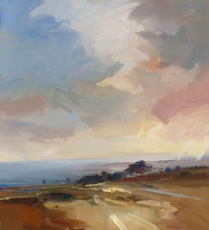 David Atkins - On the Ashdown - Oil on Canvas