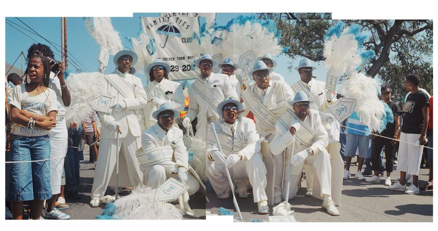 Faisal Abdu'Allah, Second Line, photo on paper, in New Orleans 2008. Printed by Magnolia Editions, Oakland California, USA, 2011